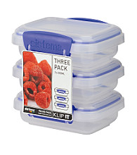 Klip It 3-Pack of 200ml Storage Containers