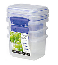 Klip It 3-Pack of 400ml Storage Containers