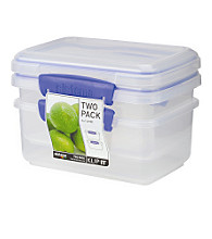 Klip It 2-Pack of 1-Liter Storage Containers