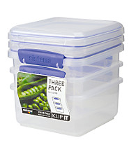 Klip It 3-Pack of 1.2-Liter Storage Containers