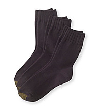 GOLD TOE® Ultra Soft Crew 3 Pack Socks