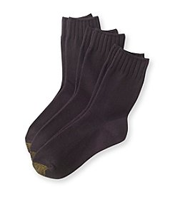 GOLD TOE® 3-Pack Ultra Soft Crew Socks
