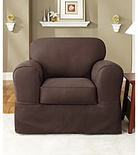 Sure Fit® Twill Supreme Chair Separate Seat Slipcover
