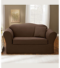 Sure Fit® Twill Supreme Sofa & Loveseat Separate Seat Slipcovers