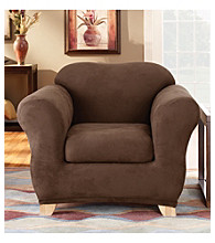 Sure Fit® Stretch Suede Chair Separate Seat Slipcover