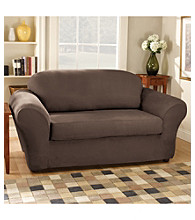 Sure Fit® Stretch Suede Sofa & Loveseat Separate Seat Slipcovers