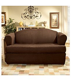 Sure Fit® Stretch Suede Sofa & Loveseat Separate Seat T-Cushion Slipcovers