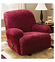 Sure Fit® Stretch Royal Diamond 1-Piece Recliner Slipcover