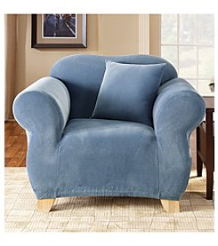 Sure Fit® Stretch Pique 1-Piece Chair Slipcover