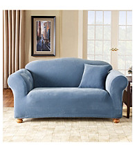 Sure Fit® Stretch Pique 1-Piece Sofa & Loveseat Slipcovers