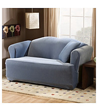 Sure Fit® Stretch Pique 1-Piece Sofa & Loveseat T-Cushion Slipcovers