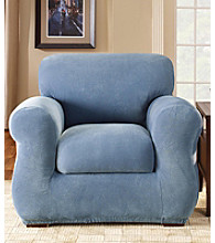 Sure Fit® Stretch Pique Chair Separate Seat Slipcover