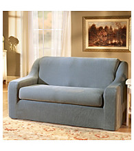 Sure Fit® Stretch Pique Sofa & Loveseat Separate Seat Slipcovers