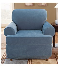 Sure Fit® Stretch Pique Chair Separate Seat T-Cushion Slipcover