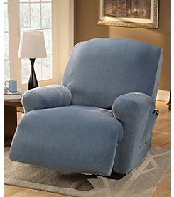Sure Fit® Stretch Pique One-Piece Recliner Slipcover