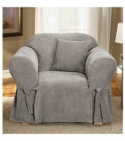 Sure Fit® Soft Suede 1-Piece Chair Slipcover