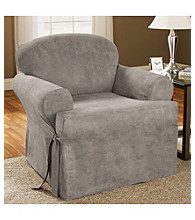 Sure Fit® Soft Suede 1-Piece Chair T-Cushion Slipcover
