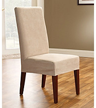 Sure Fit® Soft Suede Dining Room Chair Slipcover - Short