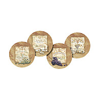 Thirstystone® Wine Labels 4-Pack Coasters