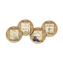 Thirstystone® Set of Four Wine Labels Coasters