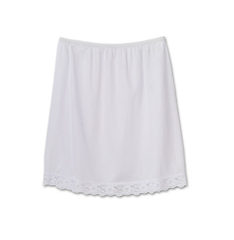 J.C. Collections Girls' 8-14 White Tricot Half Slip