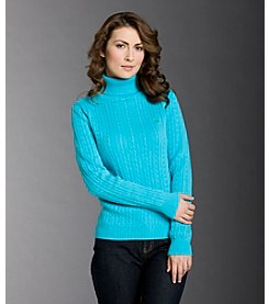 Izod® Solid Cable-knit Turtleneck Sweater