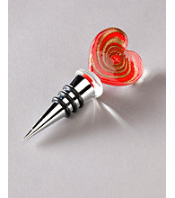 Vintage Royal Bottle Stopper - Red Heart