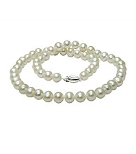 Genuine Freshwater Pearl Necklace - White