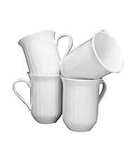 Mikasa® Antique White Set of 4 Mugs