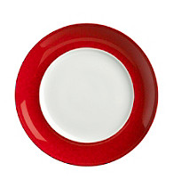 Mikasa® Pure Red Accent Plate with Red Crackle Rim