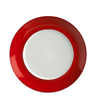 Mikasa® Pure Red Dinner Plate with Red Crackle Rim