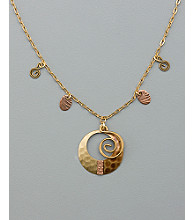 Silver Forest® Coil Necklace - Brown Multi Metal