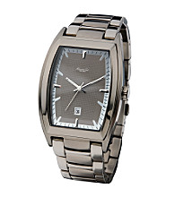 Kenneth Cole New York® Men's Barrel Case 3-Hand Gunmetal Watch