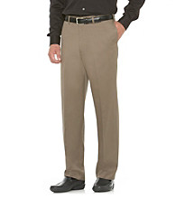 Savane® Men's Relaxed Fit Flat Front Hidden Comfort Chino