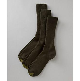 GOLD TOE® Men's 3-Pack Acrylic Fluffies Socks