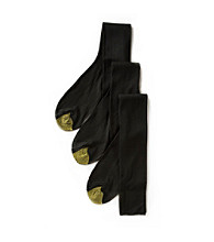 GOLD TOE® Men's 3-Pack Fresh Tex Calf Metropolitan Socks - Black