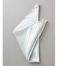 Kenneth Roberts Platinum® Men's Pindot Pocket Square - Silver