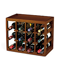 Wine Enthusiast 12 Bottle Cube-Stack Wine Rack