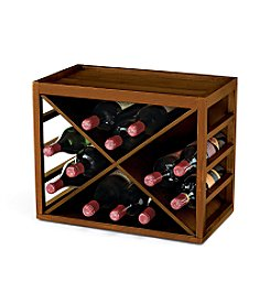 Wine Enthusiast 12-Bottle Cube-Stack X Rack