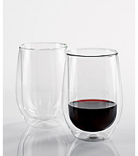 Wine Enthusiast Set of 2 Steady-Temp Double Wall Red Wine Glasses
