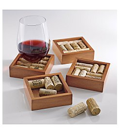 Wine Enthusiast Wine Cork Coasters Kit - Set of 4