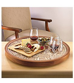 Wine Enthusiast Wine Cork Service Tray Trivet Kit