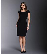 Calvin Klein® Boatneck Luxe Sheath Dress
