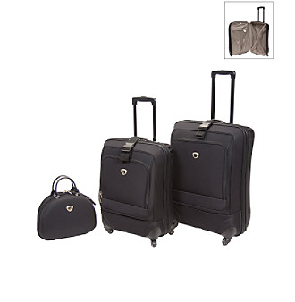IT Luggage Ultra Light Spinner Ion Black Luggage
