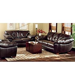 Chateau d'Ax Salerno Brown Leather Living Room Furniture Collection