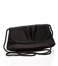 La Regale® Soft Flap Clutch - Black