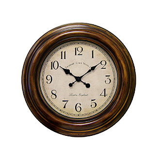 "Veritime 24"" Burnished Rust Wall Clock"