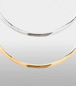 6mm Reversible Two-Tone Omega Necklace