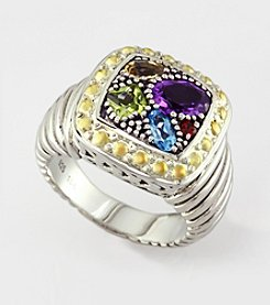 Effy® Multi Semi-Precious Ring in Sterling Silver/18K Gold