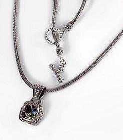 Effy® Semi-Precious Multi-Stone Pendant in Sterling Silver